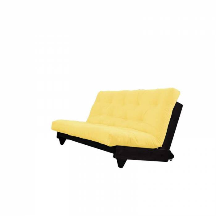 Canapea extensibilă textil galben Fresh Black