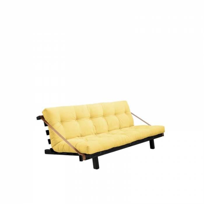 Canapea extensibilă textil galben Jump Black