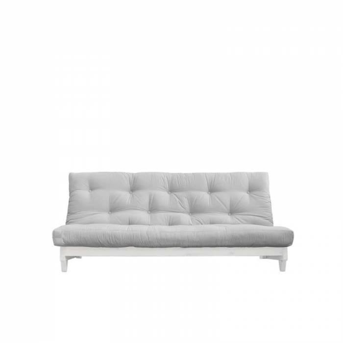 Canapea extensibilă textil gri deschis Fresh White