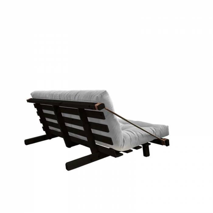 Canapea extensibilă textil gri deschis Jump Black