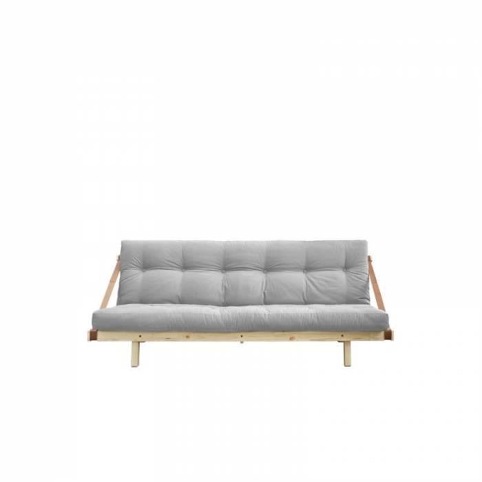 Canapea extensibilă textil gri deschis Jump Natur
