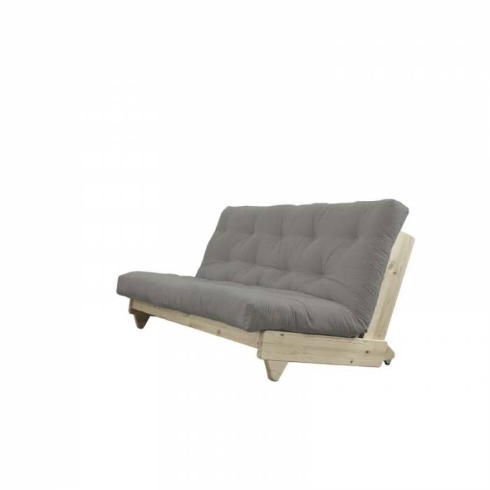 Canapea extensibilă textil gri Fresh Natur