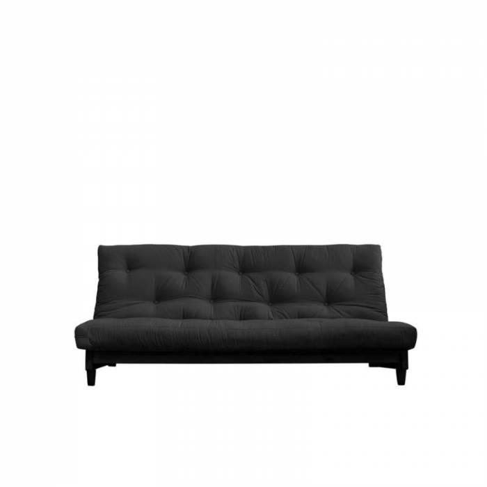 Canapea extensibilă textil gri închis Fresh Black