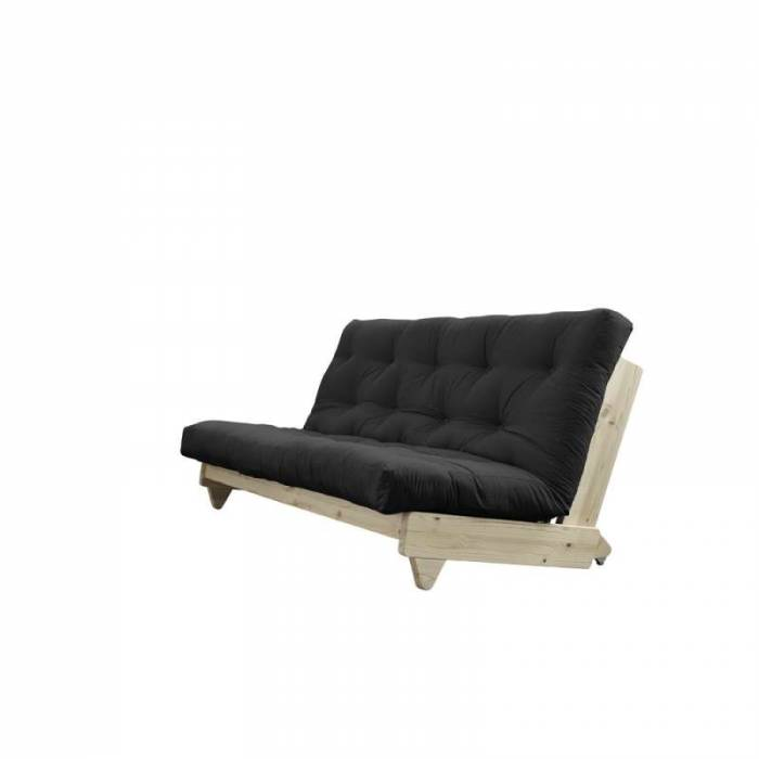 Canapea extensibilă textil gri închis Fresh Natur