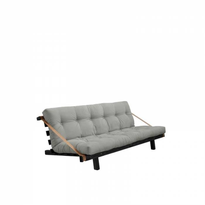 Canapea extensibilă textil gri Jump Black
