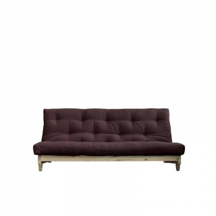 Canapea extensibilă textil maro închis Fresh Natur