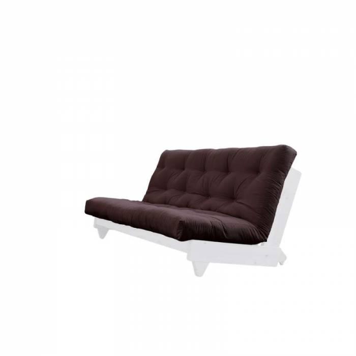 Canapea extensibilă textil maro închis Fresh White