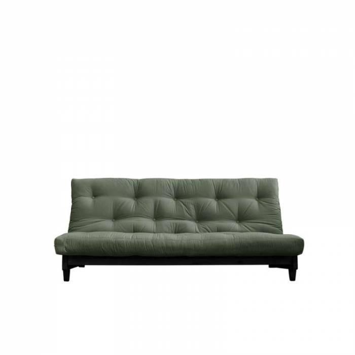 Canapea extensibilă textil oliv Fresh Black