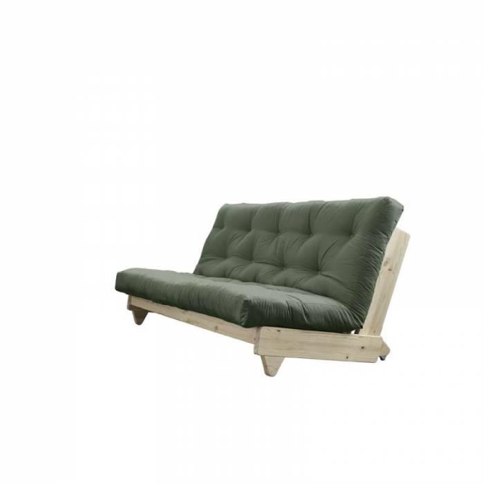 Canapea extensibilă textil oliv Fresh Natur