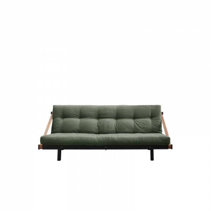 Canapea extensibilă textil oliv Jump Black