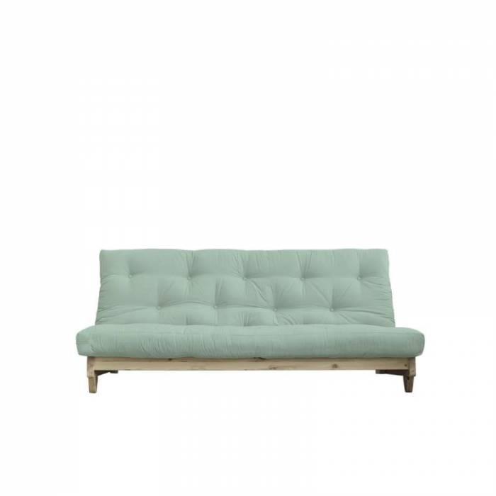 Canapea extensibilă textil verde mentă Fresh Natur