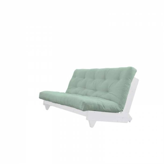 Canapea extensibilă textil verde mentă Fresh White