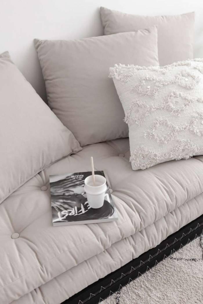 Canapea modulară gri închis Chico