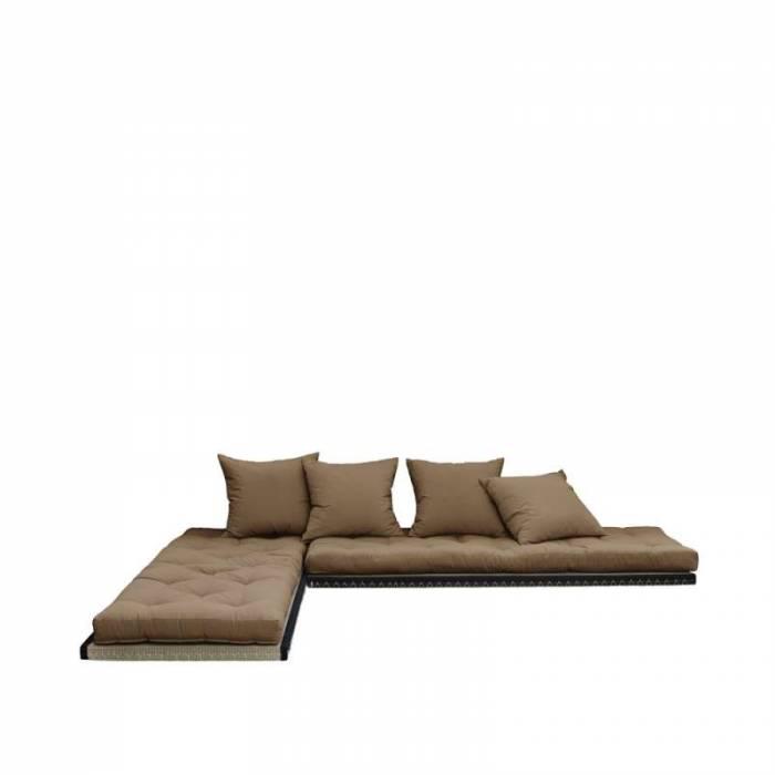 Canapea modulară maro Chico