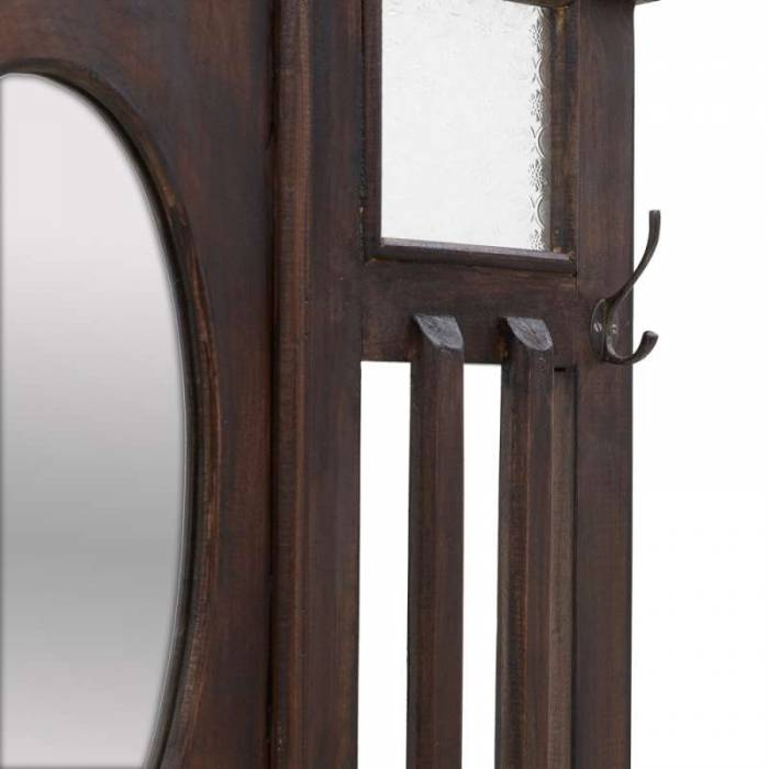 Cuier din lemn de mahon Melany