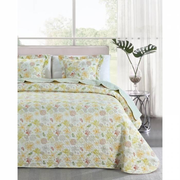 Cuvertură de pat galbenă Loana 235x270 cm