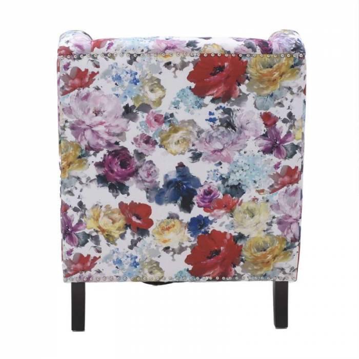 Fotoliu cu imprimeu floral Lyman