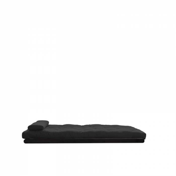 Fotoliu extensibil gri închis Figo Black 120
