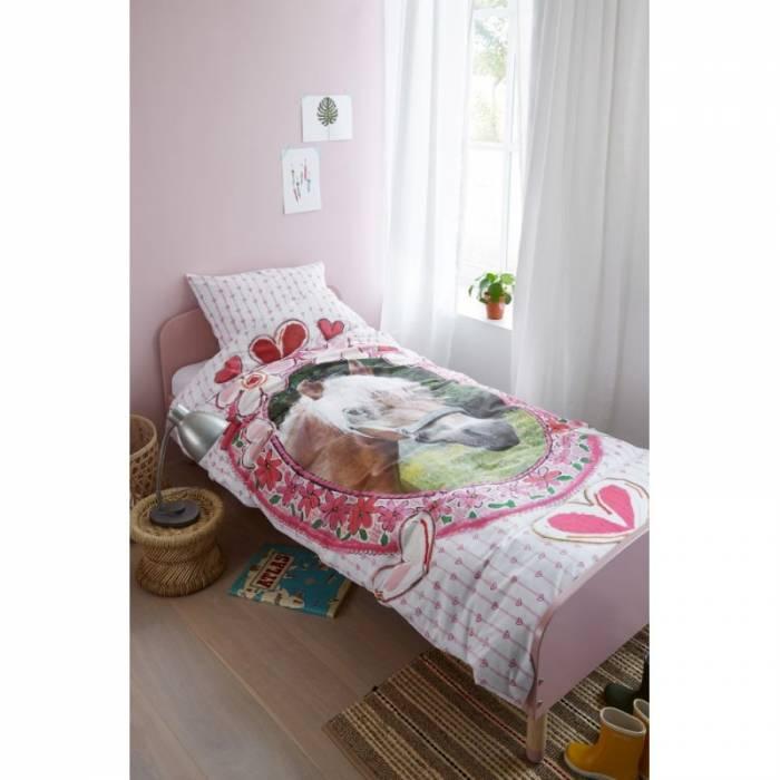 Lenjerie de pat roz Favorites 200x200/220 cm
