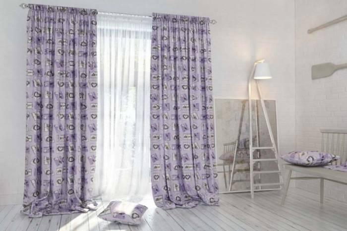 Material draperie Provence Lavendula Square