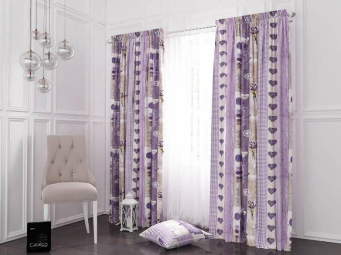 Material draperie Provence Lavendula Stripes