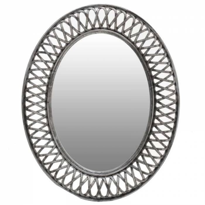 Oglindă cu ramă argintie Selena S