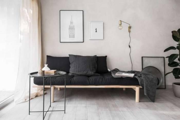 Pat canapea bej stil scandinav Pace Black
