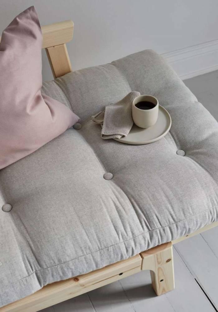 Pat canapea maro cafea stil scandinav Step White