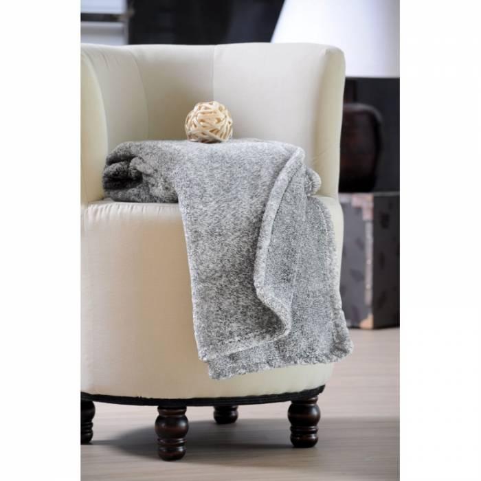 Pătură gri pufoasă lână imitațe Sweetness 130x160 cm