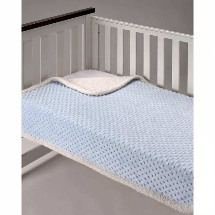 Pătură pufoasă albastră copii Topitos Sherpa 044 110x140 cm