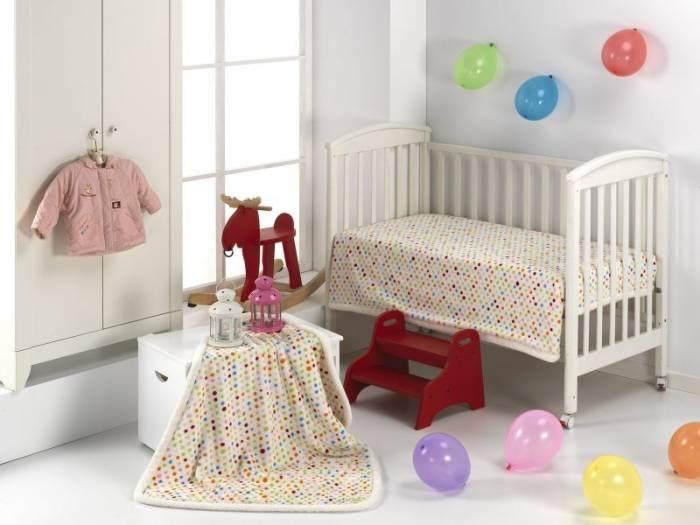 Păturică buline colorate copii 211 Globos 110x140 cm