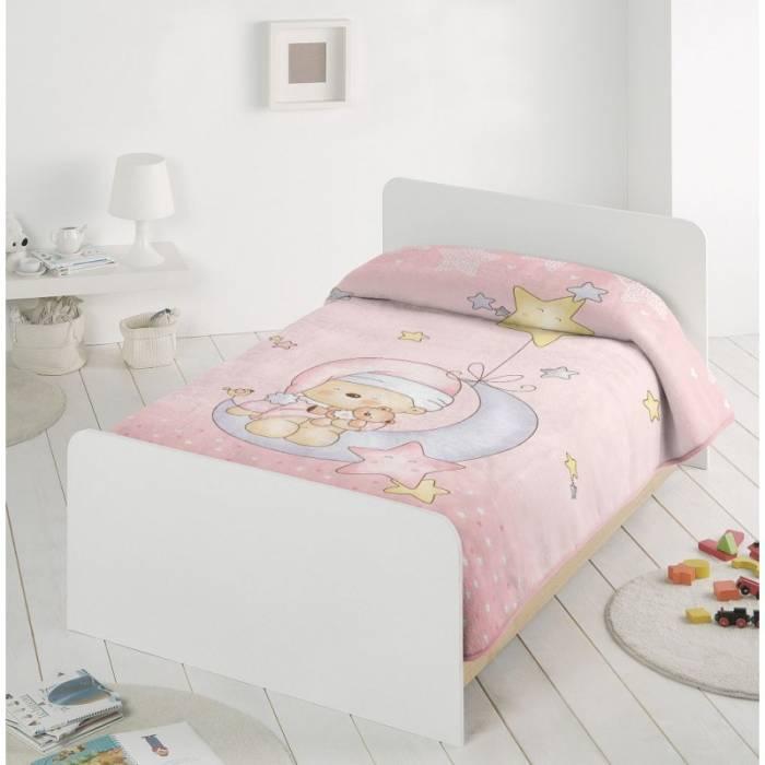 Păturică fetițe roz ursuleț 6376 110x140 cm