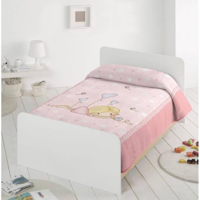 Păturică roz fetita 6377 110x140 cm