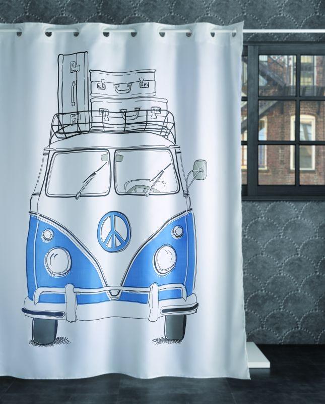 Perdea baie VW Furgoneta albastră 240 180x200 cm