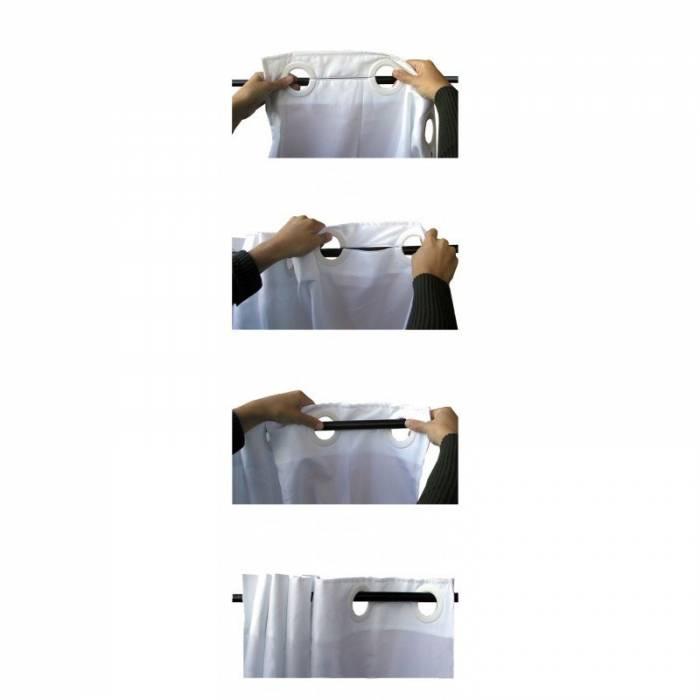 Perdea de duș Retro alb negru 234 180x200 cm