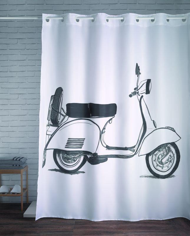 Perdea de duș scuter Vespa alb 241 180x200 cm