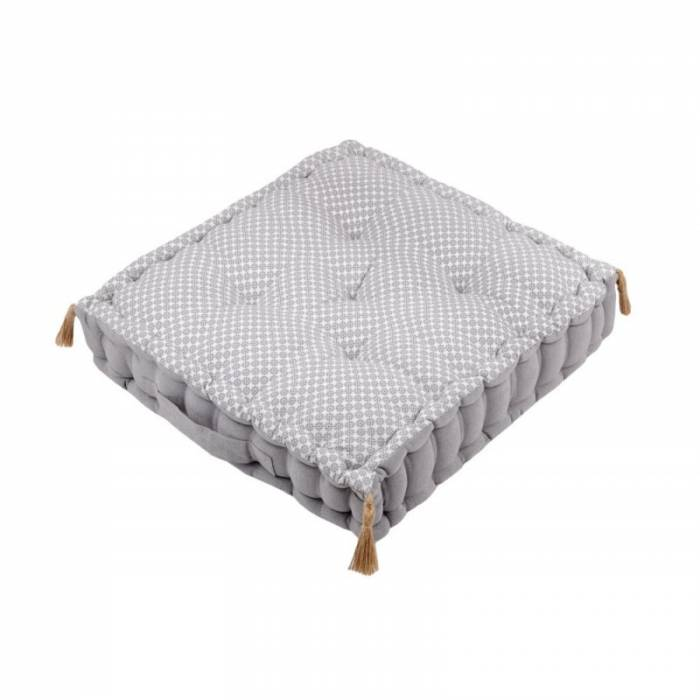 Pernă gri podea Nelia gris 45x45x10 cm