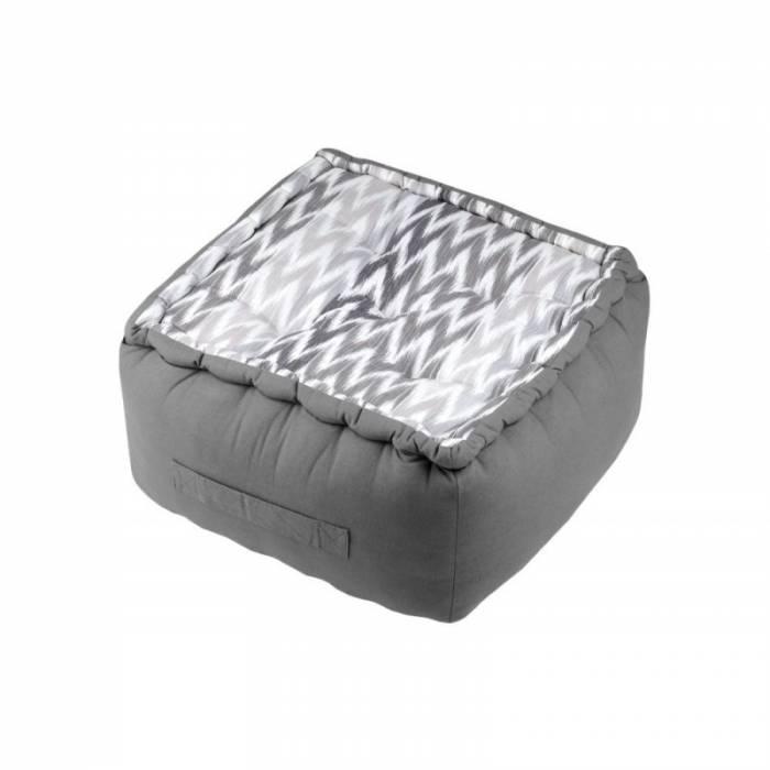 Pernă gri șezut podea Ikati gris 40x40x30 cm