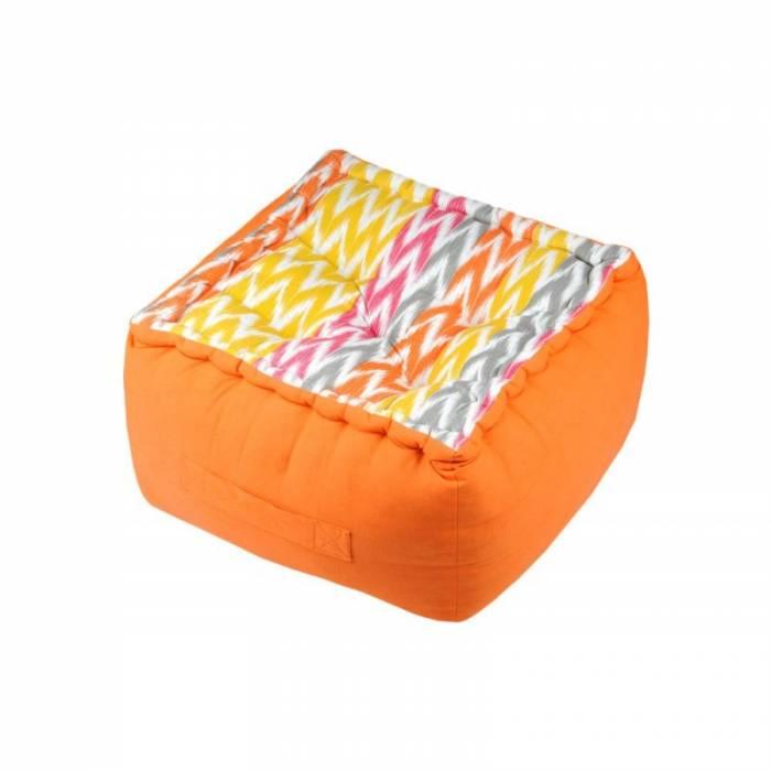 Pernă podea șezut portocalie Ikati Orange 45x45x10 cm