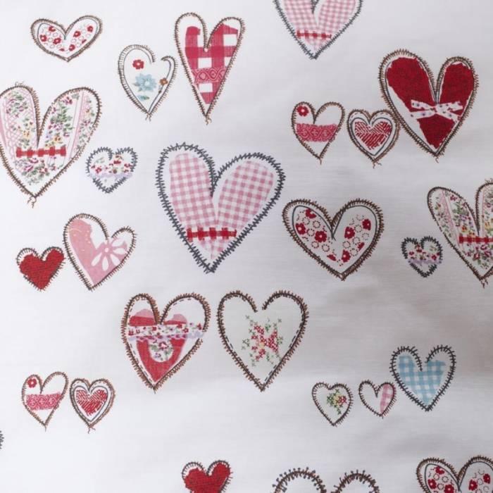 Set Lenjerie de pat fetițe cu inimi Pretty Hearts 140x200/220 cm