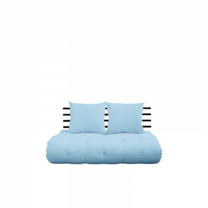 Sofa extensibilă textil bleu deschis Shin Sano Black