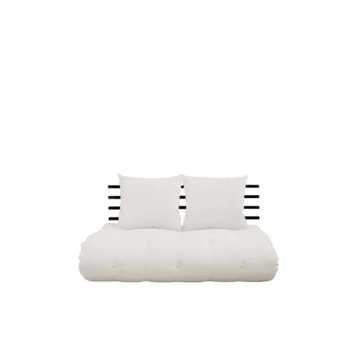 Sofa extensibilă textil crem Shin Sano Black