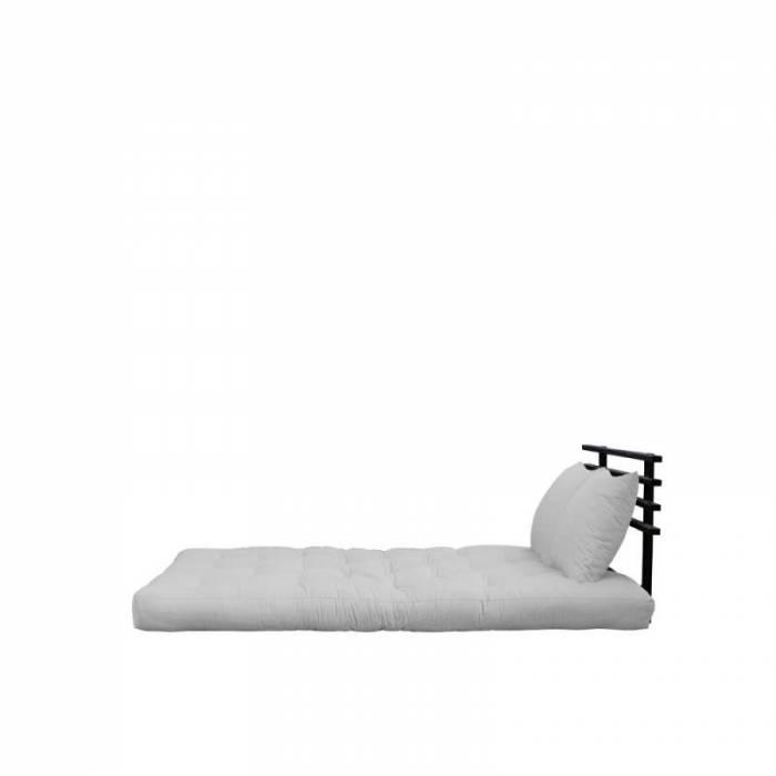 Sofa extensibilă textil gri deschis Shin Sano Black