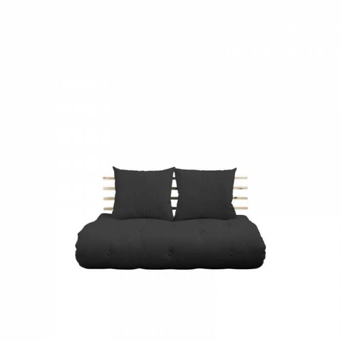 Sofa extensibilă textil gri închis Shin Sano Natur
