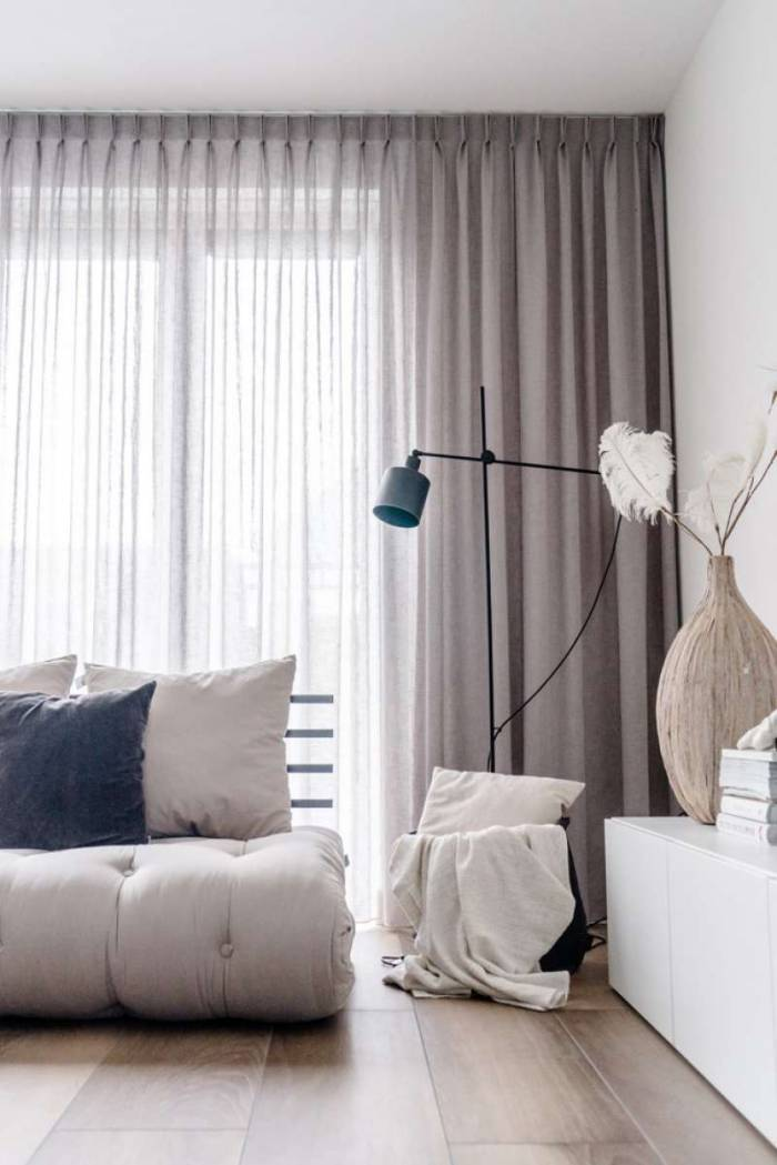 Sofa extensibilă textil gri Shin Sano Natur