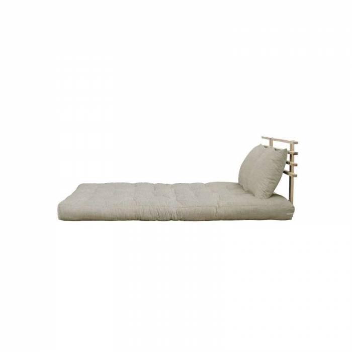 Sofa extensibilă textil bej in Shin Sano Natur