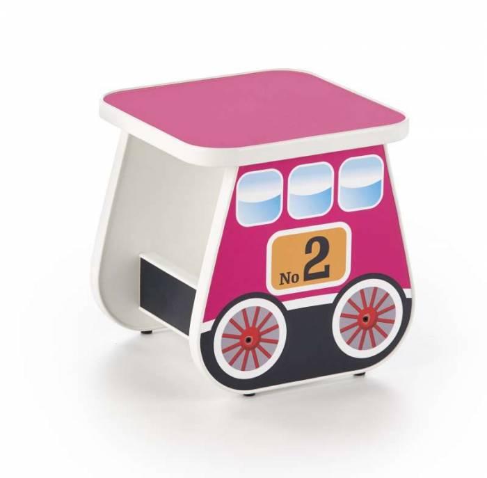 Taburet roz pentru copii Lokomo