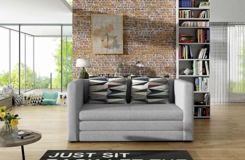 Canapea extensibilă Neva Grey 65x70x132 cm spuma/ lemn/ poliester/ plastic gri