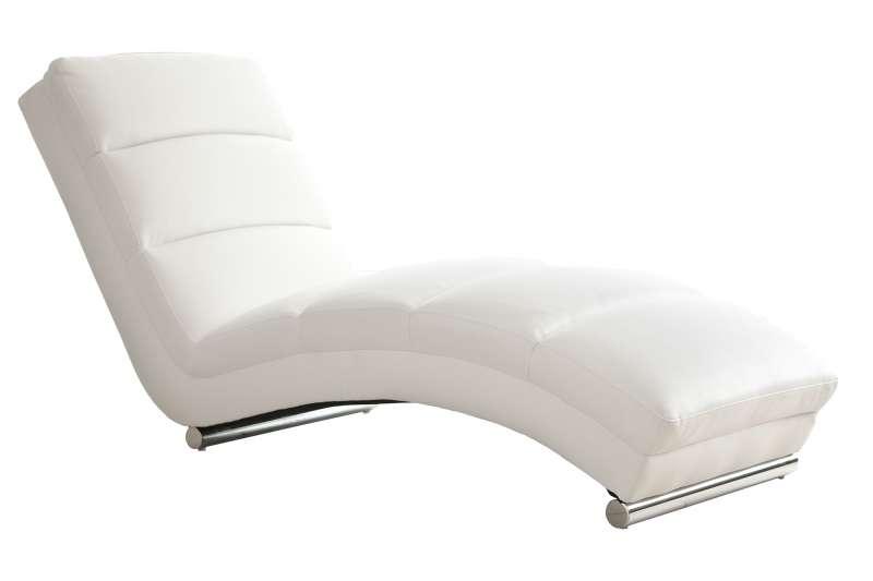Fotoliu modern Relax ecopiele alb