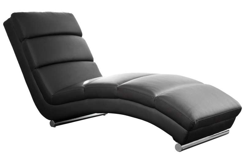 Fotoliu modern Relax ecopiele negru